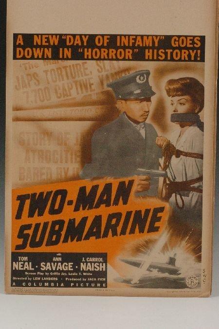 1944 LOBBY CARD MOVIE POSTER 'TWO - MAN SUBMARINE'