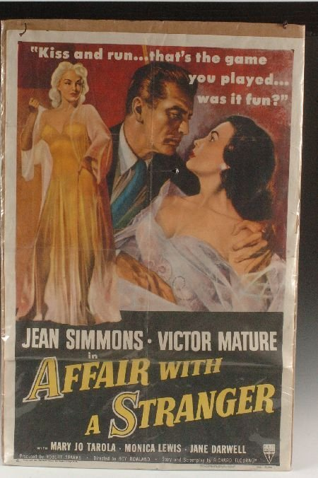 AFFAIR WITH A STRANGER 1953 MOVIE POSTER