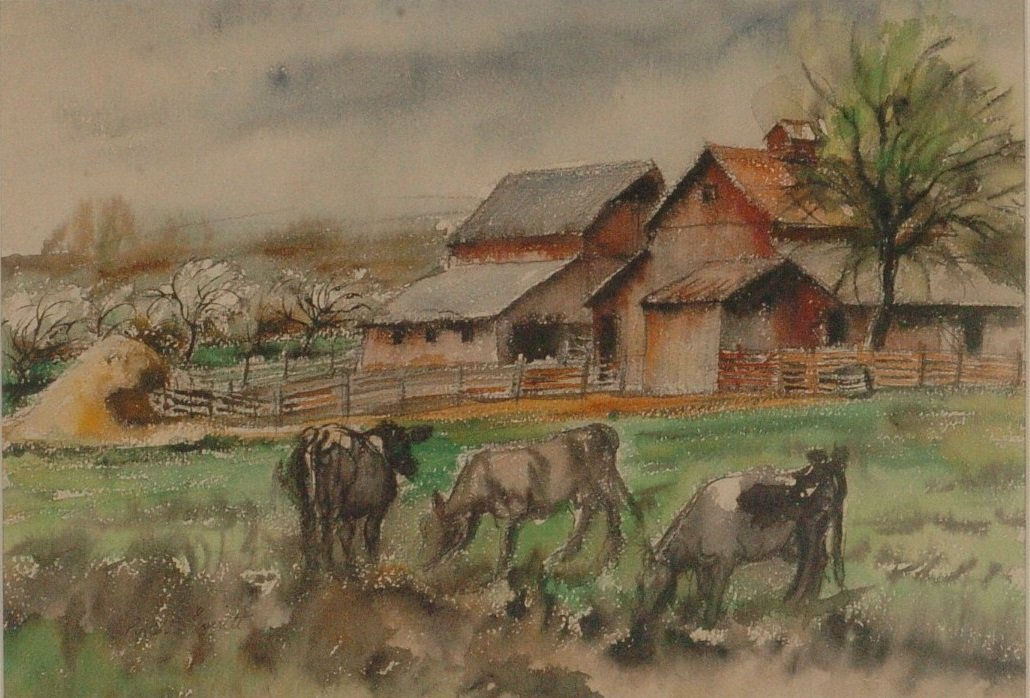 PAULINA EVERITT (1905 - 1996 KANSAS CITY) WATERCOLOR ON