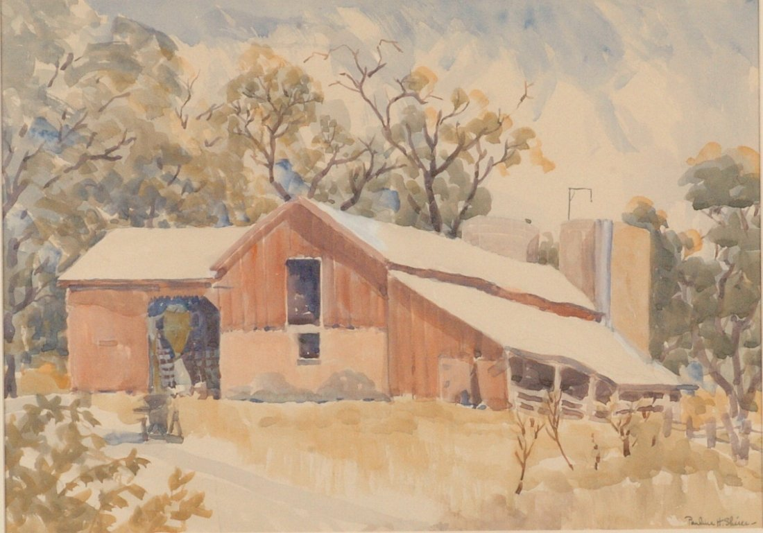 PAULINE HAYES SHIRER (1894 - 1975 KANSAS) WATERCOLOR ON