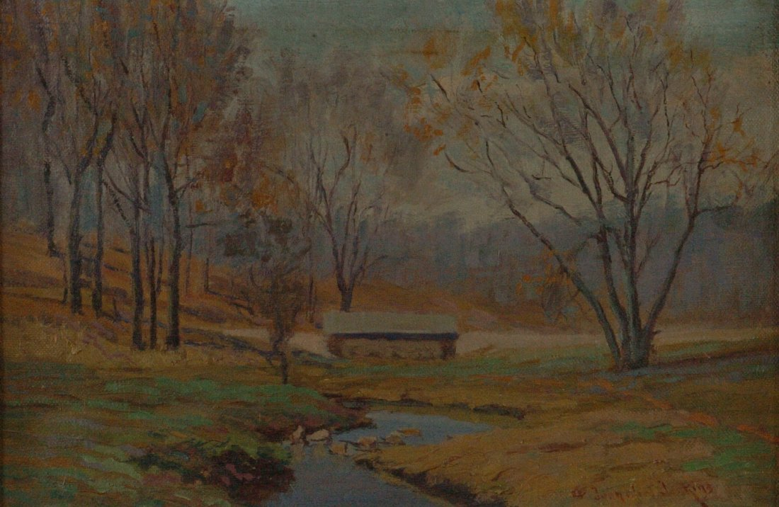 JOHN ELLIOT JENKINS (1868-1937 KANSAS/TEXAS) OIL ON CAN