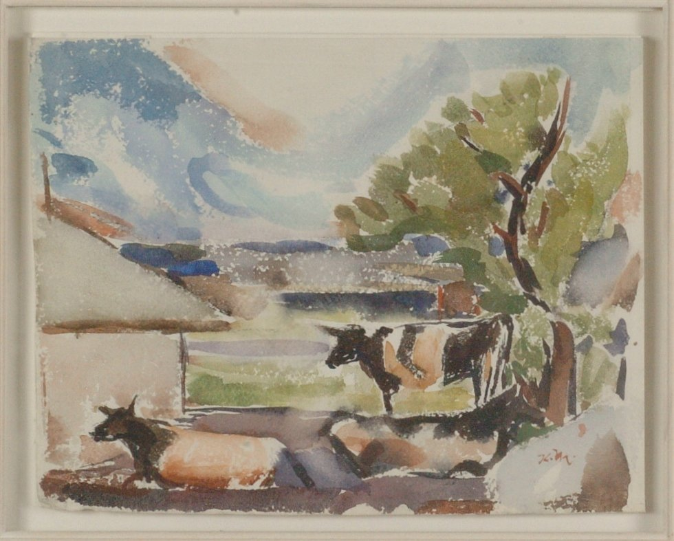 KARL MATTERN (1892- 1969) WATERCOLOR