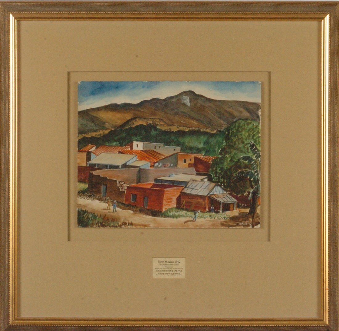 *NORMAN MacLEISH (1890 - 1975) NEW MEXICO WATERCOLOR 19