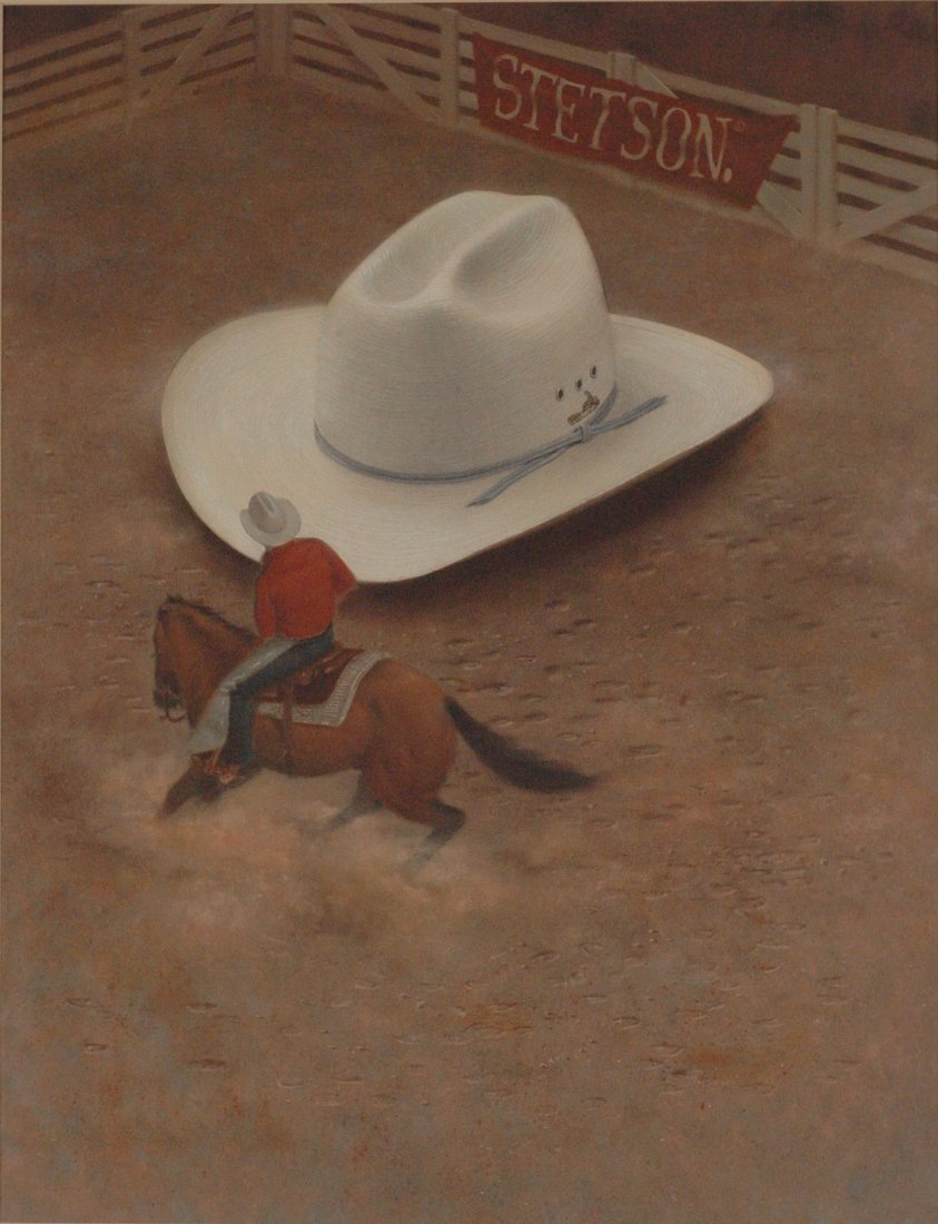 BRENT WATKINSON ORIGINAL ILLUSTRATION FOR STETSON HATS