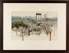1972 CALIFORNIA WATERCOLOR SIGNED J. JOHNSON