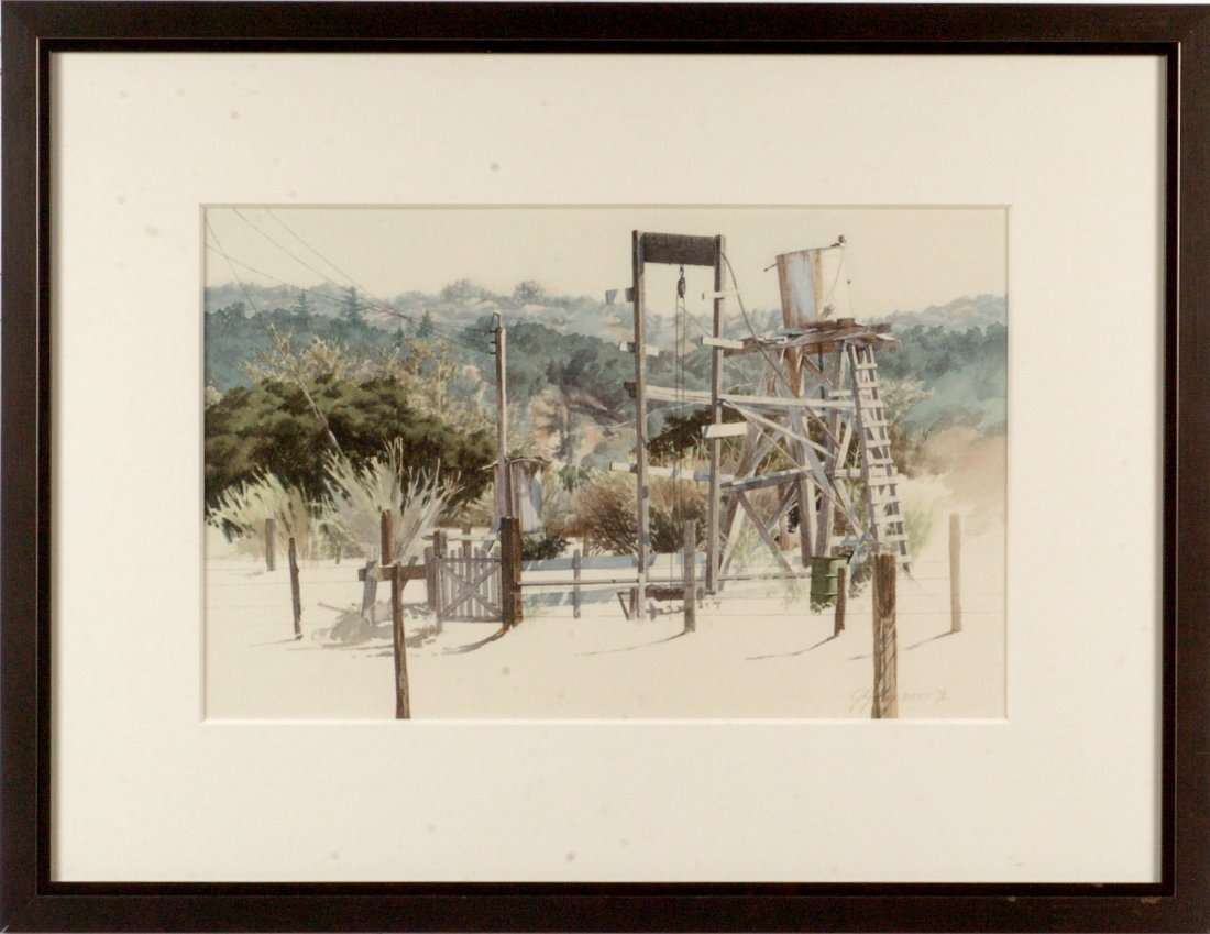 1972 CALIFORNIA WATERCOLOR SIGNED J. JOHNSON