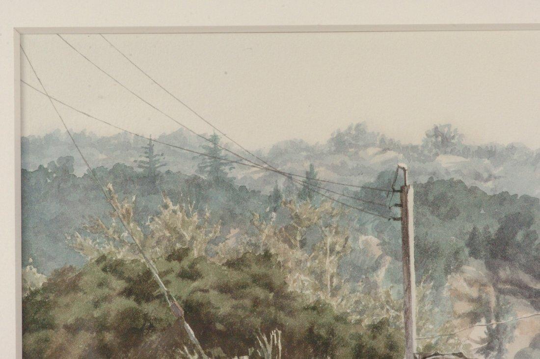 1972 CALIFORNIA WATERCOLOR SIGNED J. JOHNSON - 2