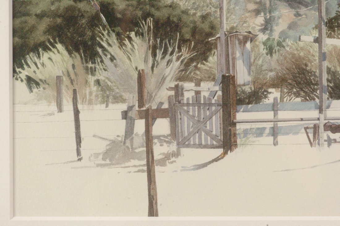 1972 CALIFORNIA WATERCOLOR SIGNED J. JOHNSON - 4