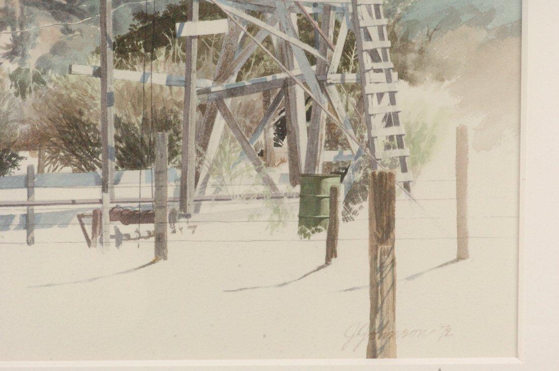 1972 CALIFORNIA WATERCOLOR SIGNED J. JOHNSON - 5