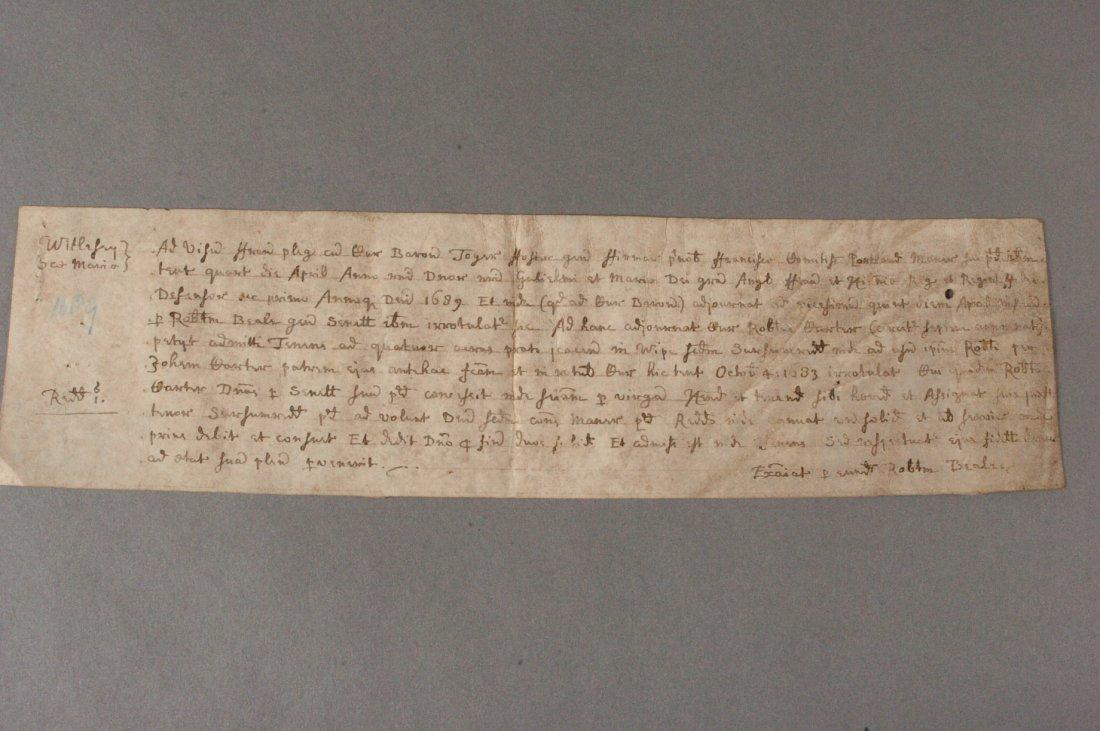 17th Century Manuscript