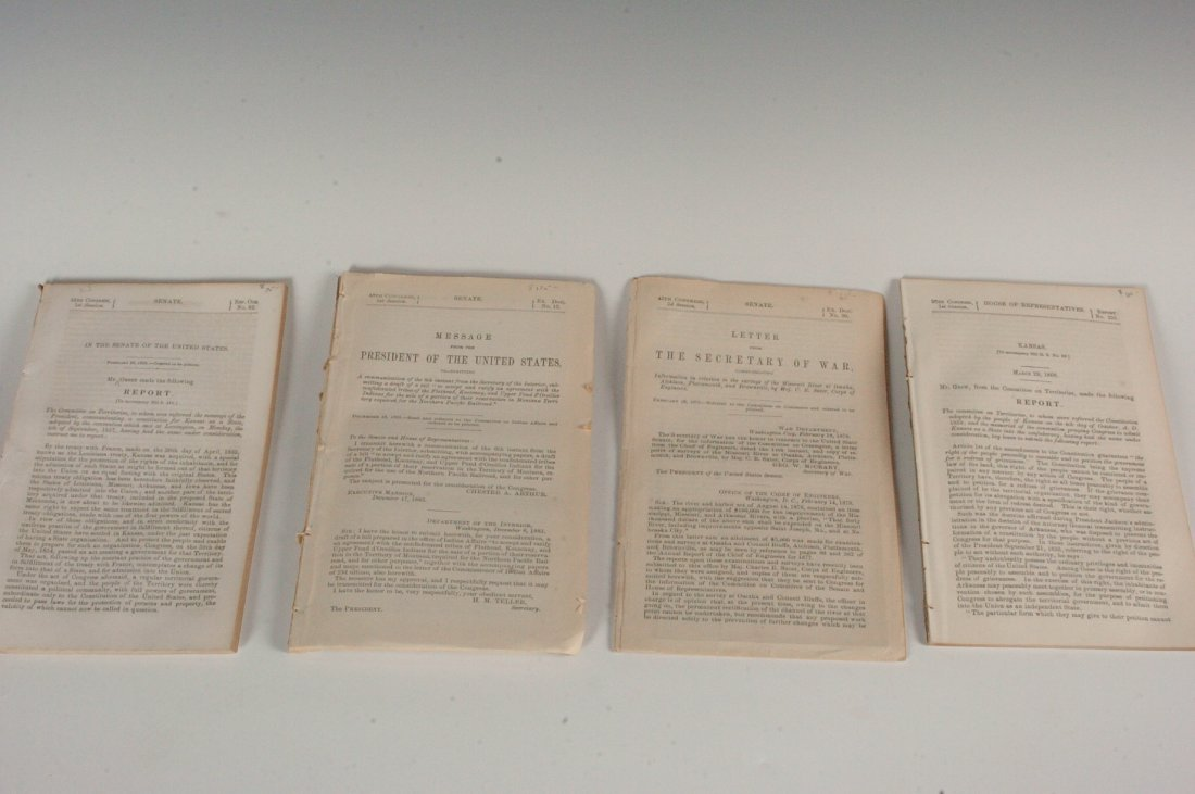 Four 19th Century Governmental Reports and Studies