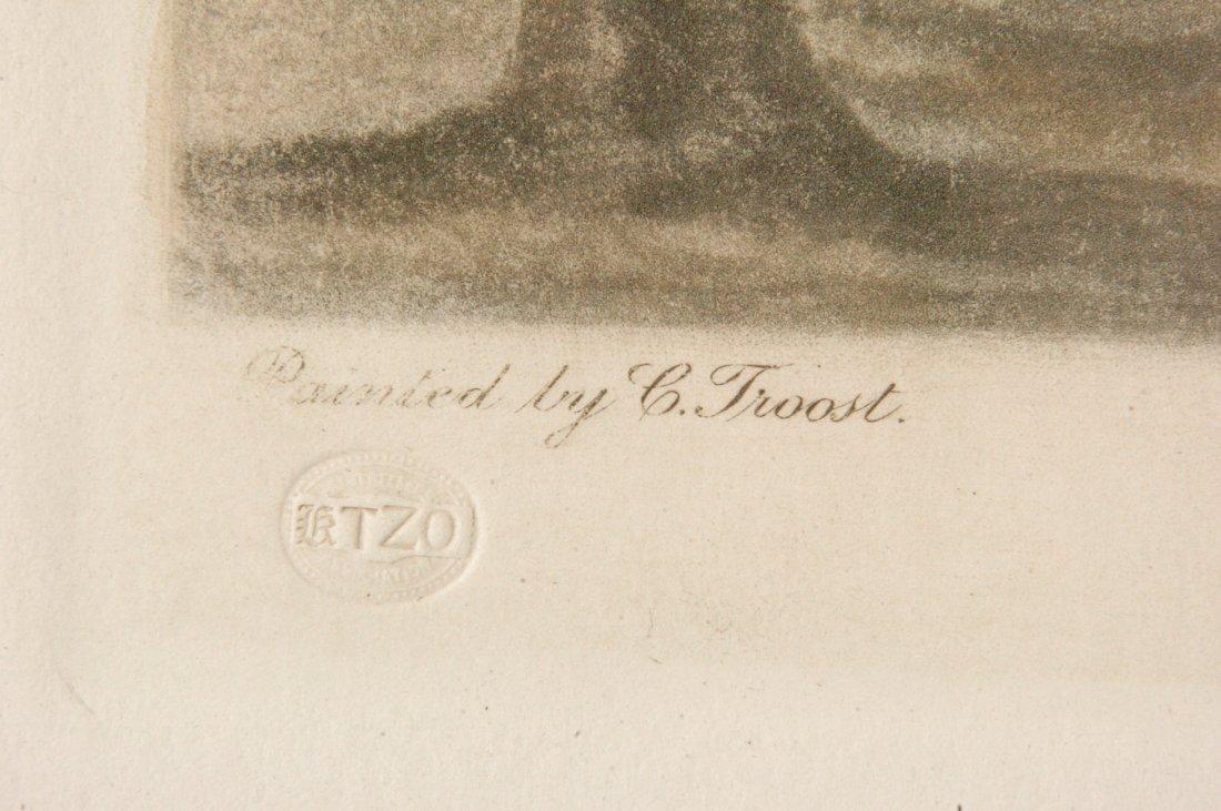 VERY LARGE ARTHUR L. COX PENCIL SIGNED MEZZOTINT - 7