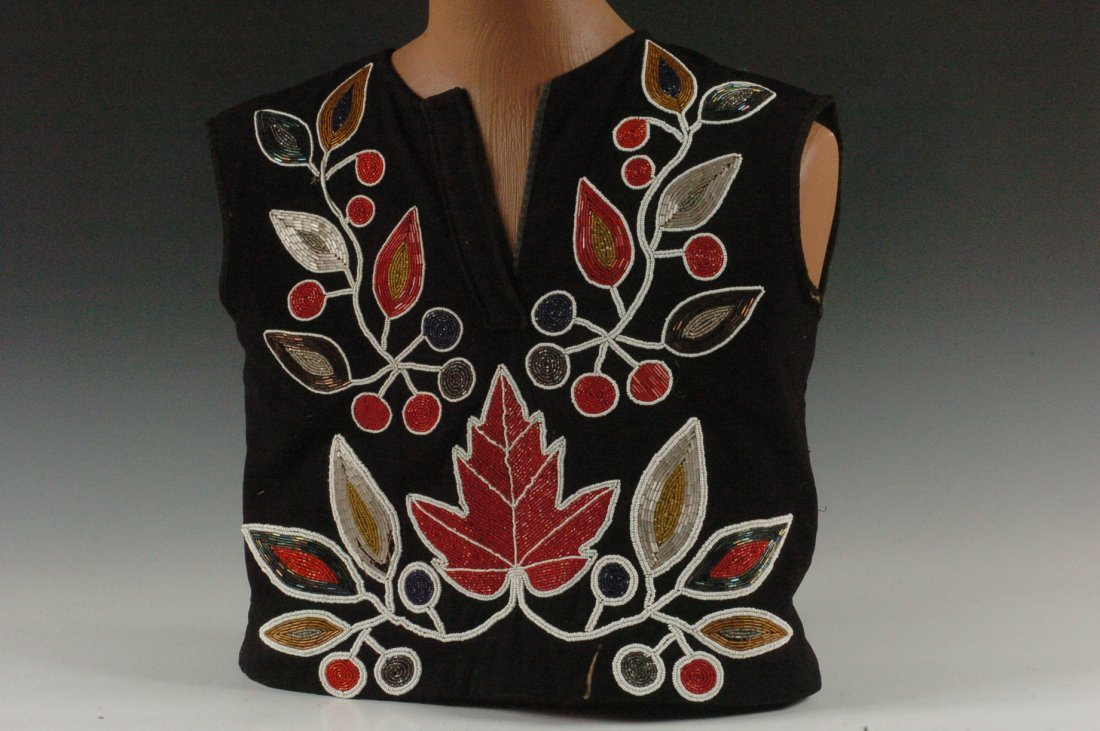 A POTTAWATOMIE BEAD WORK VEST OR SHIRT