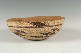 A YORUK TWINED BASKETRY HAT
