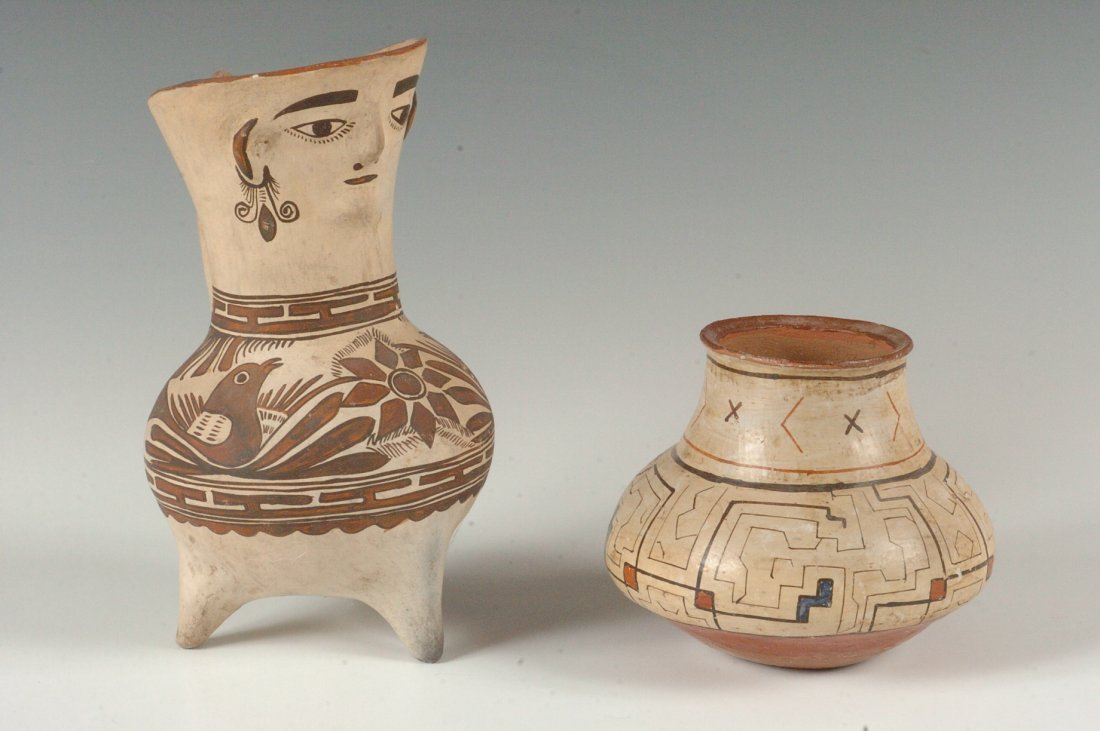 TWO PIECES OF SOUTH AMERICAN POTTERY