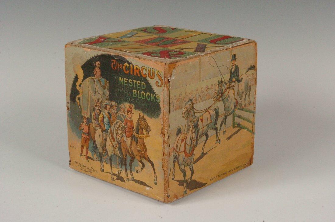 MCLOUGHLIN BROS. CIRCUS NESTED BLOCKS C. 1880s