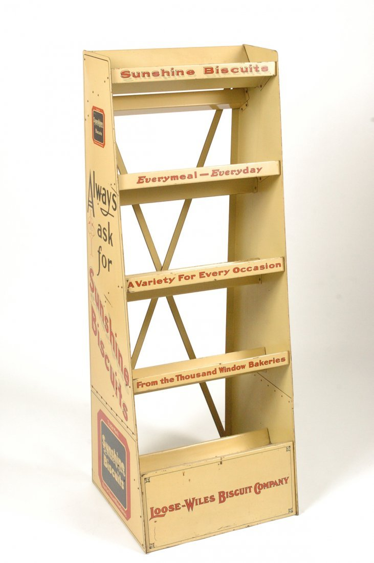 SMALL SUNSHINE BISCUITS ADVERTISING DISPLAY SHELF