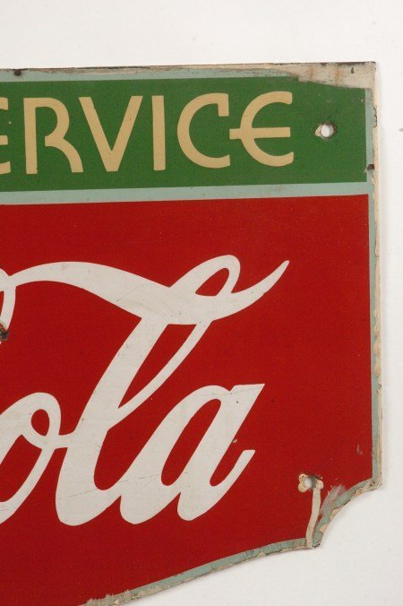 COCA-COLA FOUNTAIN SERVICE PORCELAIN ENAMEL SIGN - 4