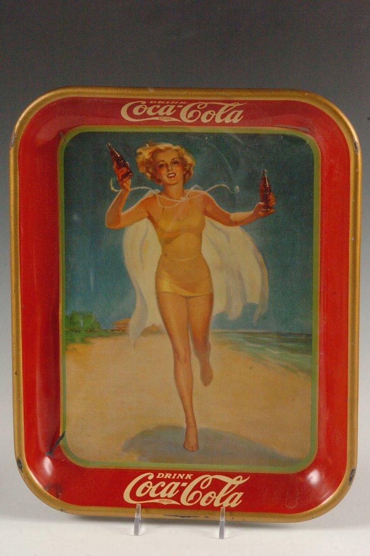 1937 COCA-COLA ADVERTISING SERVING TRAY - 2