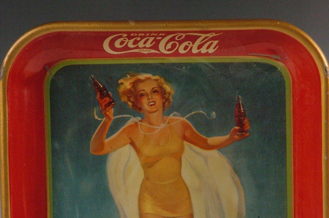1937 COCA-COLA ADVERTISING SERVING TRAY - 3