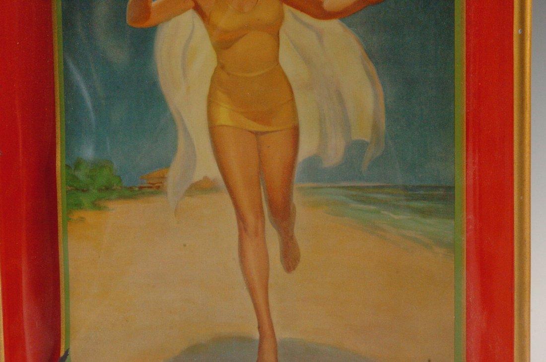 1937 COCA-COLA ADVERTISING SERVING TRAY - 4