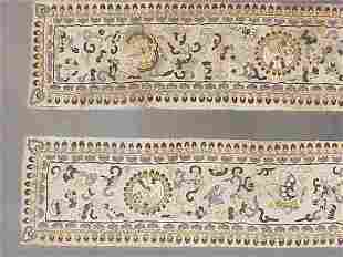 Pair of Chinese 19th century embroidered