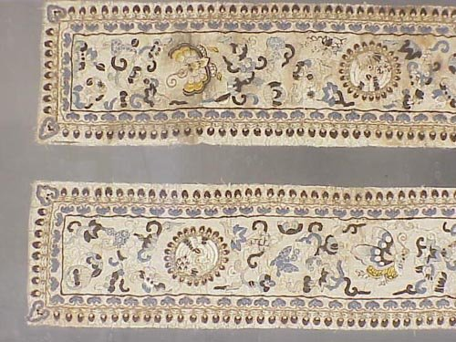 120: Pair of Chinese 19th century embroidered