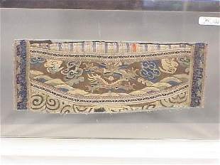Embroidered Chinese cuff