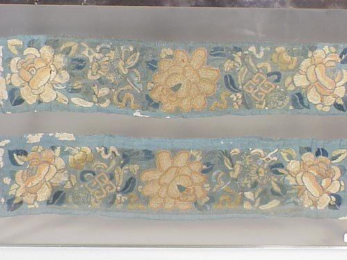 122: Pair of embroidered Chinese cuffs