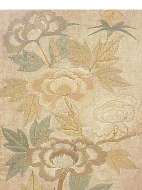 Pair of Japanese embroidered fragments