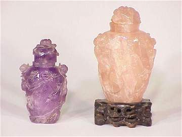 127: Pair of Chinese snuff bottles