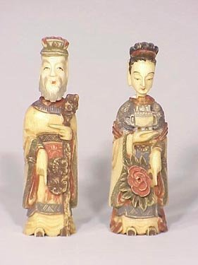 128: Pair of Ivory snuff bottles
