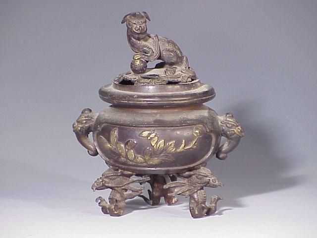 140: Chinese bronze incense