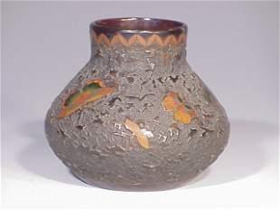 Japanese porcelain cloisonne' vase