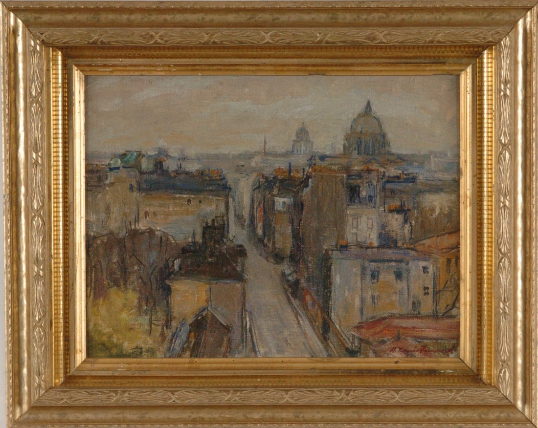HARRY LOUIS FREUND (1905-1999) OIL ON CANVAS OVER PANEL