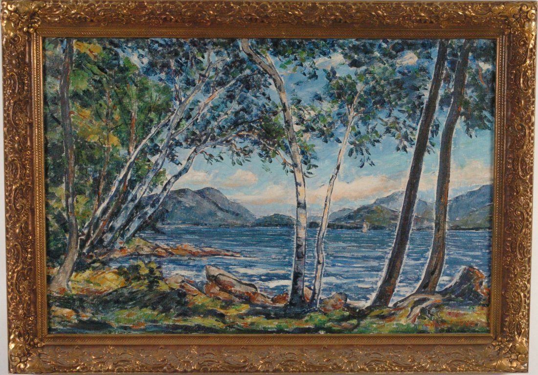 WILLIAM FISHER (1891-1955) OIL ON CANVAS