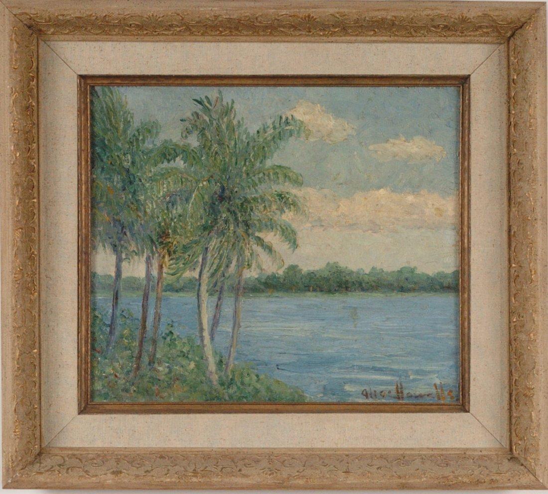 ALICE IMOGEN HOWELLS (1870-1938) OIL ON PANEL