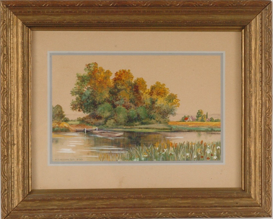 H.S. WEISSENFLUH (20th C.) WATERCOLOR, KANSAS CITY
