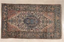 PERSIAN HAMADAN AREA RUG CIRCA 1930