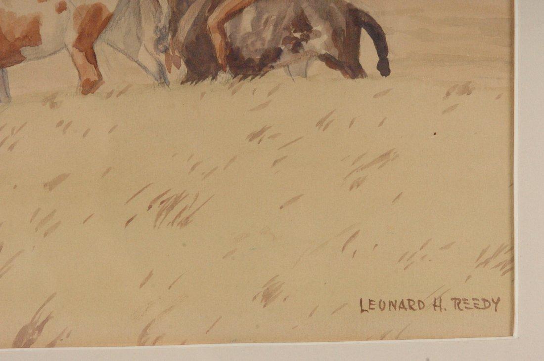 LEONARD H. REEDY (1899-1956) WATERCOLOR 'A WAR PARTY' - 6