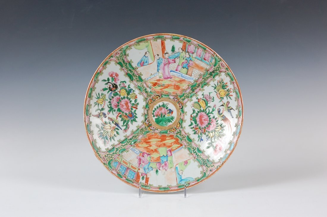 19TH CENTURY CHINESE ROSE MEDALLION CHARGER