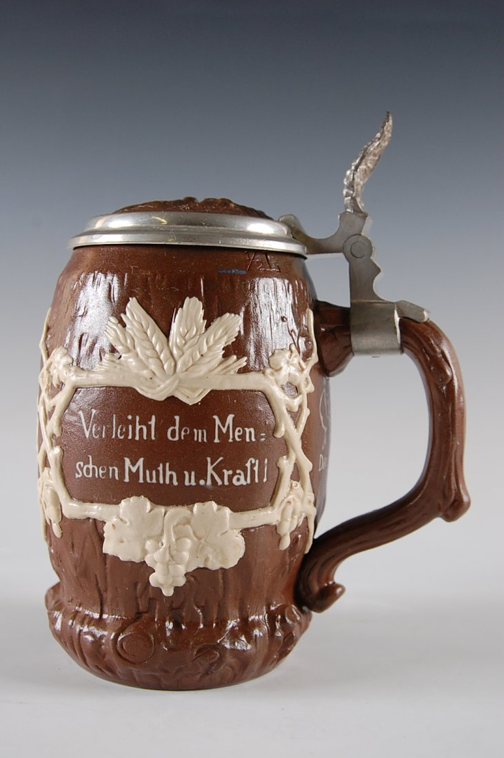 METTLACH 3/10 L SALT GLAZED STEIN NUMBER 2211