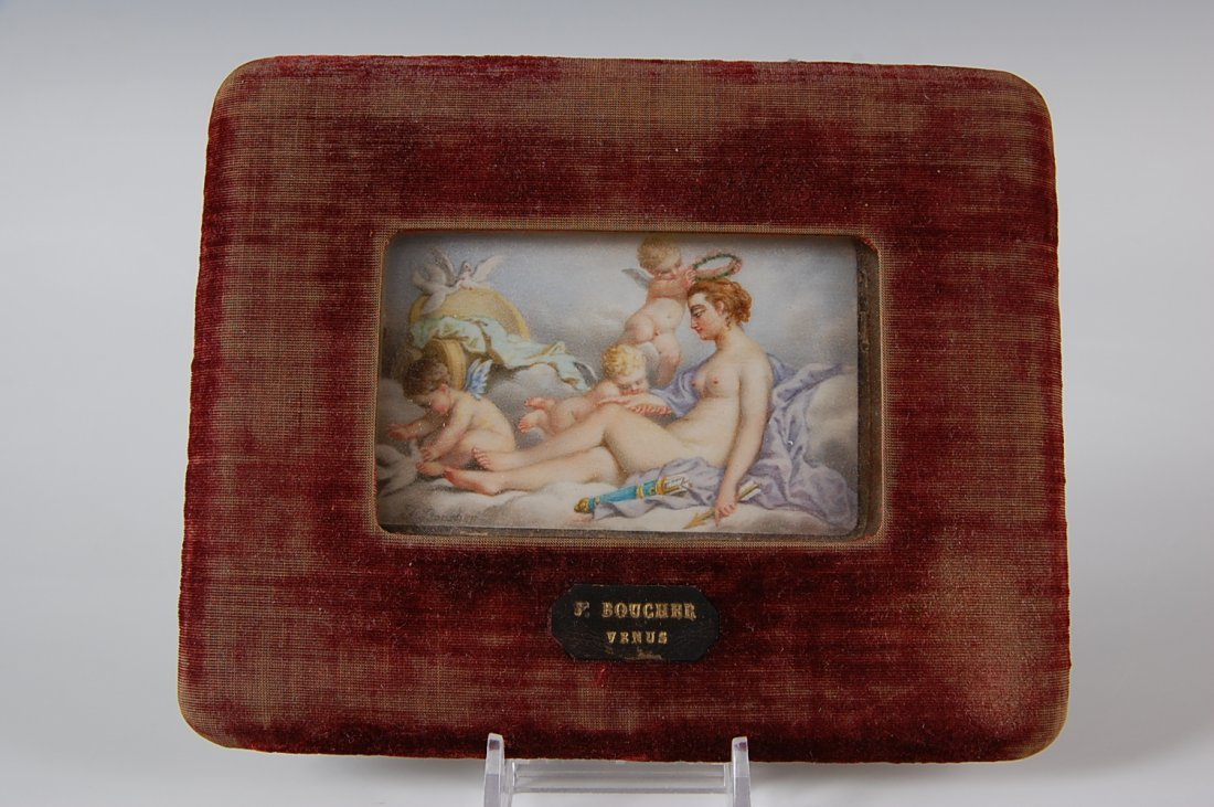 MINIATURE ON IVORY PAINTING AFTER BOUCHER