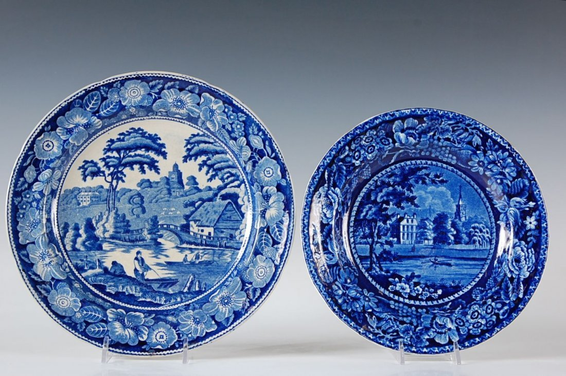 HISTORICAL BLUE STAFFORDSHIRE PLATES INCLUDING FULHAM C