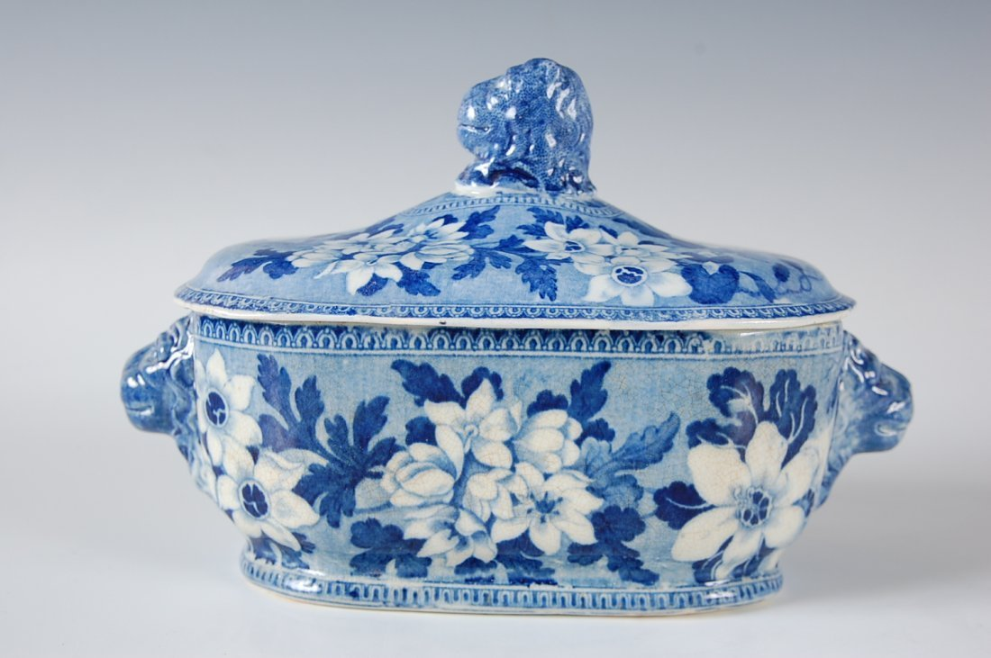 TWO PIECES OF HISTORICAL BLUE STAFFORDSHIRE