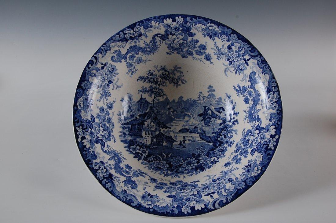 13 INCH HISTORICAL BLUE STAFFORDSHIRE BASIN