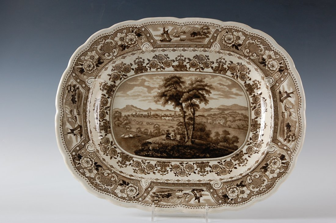 19TH C. HISTORICAL STAFFORDSHIRE PLATTER 'CLYDE SCENERY