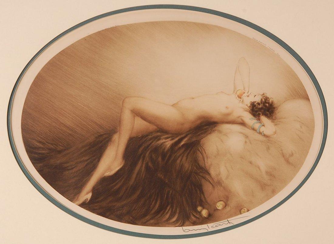 2: LOUIS ICART (1888-1950) PENCIL SIGNED 1928 COLOR ETC