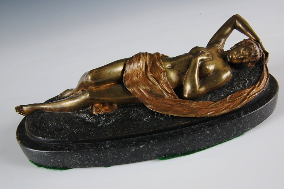 6: A VIENNESE COLD PAINTED EROTIC BRONZE NUDE WITH REVE
