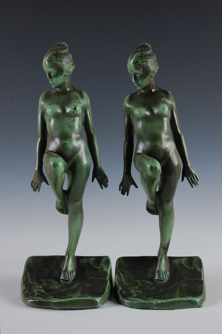 7: PAIR OF ART DECO NUDE BOOKENDS